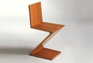 silla-zig-zag Gerrit Rietvelt para MoMa por Cassina
